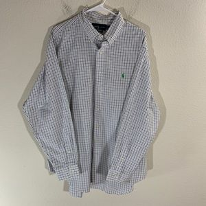 Ralph Lauren Plaid Dress Shirt 18 34/35